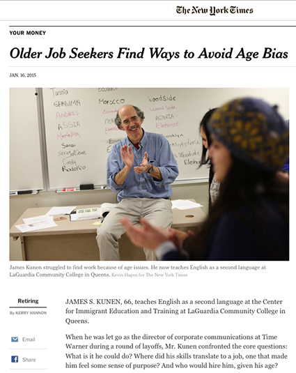 New York Times James Kunen Story Page